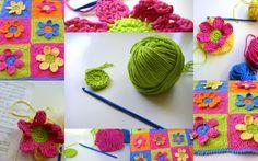sew ritzy~titzy: sugar'n cream flower power rug