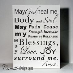 Healing Prayer in Vinyl by Camille Designs Signs wall vinyl wall art wall decor quote