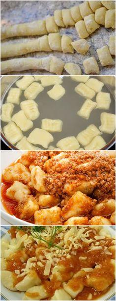 GENTE ESSA MASSA É MARAVILHOSA NHOQUE DE BATATA!! VEJA AQUI>>>Cozinhe as batatas, em água, até que estejam macias Descasque-as e passe pelo espremedor ainda quentes #receita#bolo#torta#doce#sobremesa#aniversario#pudim#mousse#pave#Cheesecake#chocolate#confeitaria No Salt Recipes, Pasta Recipes, Italian Recipes, Great Recipes, Cooking Recipes, Healthy Recipes, I Love Food, Good Food, Yummy Food