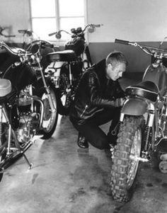 steve mcqueen et la moto