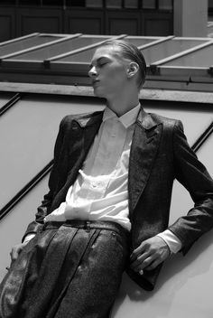 "Dominik Sadoch in ""Boys on Top"" Photographed and Styled by Aiman Kurmanova for Vintage Magazine #6"