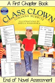 Class Clown Novel page Assessment for the book, Class Clown, by Johanna Hurwitz. What is Multiple Choice 10 True/False 10 Vocabulary Vocabulary in Who Said Language Arts - Short AnswerAnswer Key*NOTE: This resource is also part of Class Clow. Teacher Tools, Teacher Resources, Classroom Resources, Classroom Decor, Reading Resources, Reading Activities, Reading Books, Fourth Grade, Third Grade