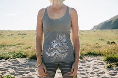 Bohemian Feather Yoga Vest