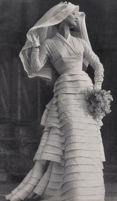1953 wedding gown.