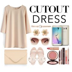 Cute Cutout Dress by cuteyang123 on Polyvore featuring polyvore fashion style Chicwish Miu Miu Accessorize Eloquii Charlotte Tilbury Samsung