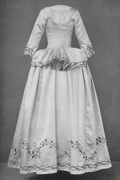 Embroidered jacket and skirt, 1780's by Madame Berg, via Flickr