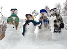 Snowmen in Finland - photo by Henri Bonell, via Flickr