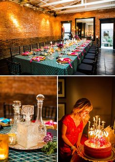 Vibrant Sophisticated Tuscan 40th Birthday Soiree Adult Party40th