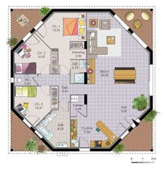 Nice Plan Maison Octogonale that you must know, You?re in good company if you?re looking for Plan Maison Octogonale Round House Plans, Small House Plans, House Floor Plans, The Plan, How To Plan, Casa Octagonal, Building Design, Building A House, Octagon House