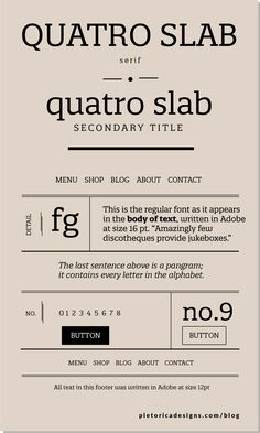 Quatro Sans is an aggreeable sans serif ypeface whose broad characters offer high legibility even at small sizes like in the footer of a site. Vintage Fonts, Vintage Typography, Typography Fonts, Typography Design, Graphics Vintage, Vector Graphics, Hand Lettering, Free Cursive Fonts, Font Free