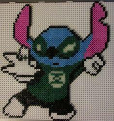 Green Lantern Stitch perler beads
