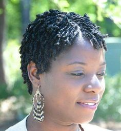 Short Black Hairstyles Twists - All About Style RhempreendimentosCom natural hair twist styles - Natural Hair Styles Natural Hair Haircuts, Natural Hair Blowout, Natural Hair Twists, Pelo Natural, Short Hair Twist Styles, Short Twists, Curly Hair Styles, Short Styles, Twa Styles