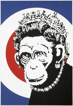 Banksy, Monkey Queen, 2003 on Paddle8                                                                                                                                                      More