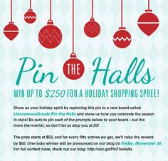 Do you decorate your home to perfection each holiday season? Are invites to your holiday party as anticipated as the first winter snowfall? Have you been scouring Pinterest for some winter inspiration (winspiration? no, that was horrible) to out shine last year's holiday performance? Enter the Pin t