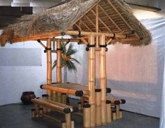 Resultado de imagem para bamboe tent Dump Furniture, Rooms To Go Furniture, Bamboo Furniture, Bamboo House Design, Bahay Kubo, Bamboo Architecture, Bamboo Crafts, Garden Cafe, Chinese Furniture