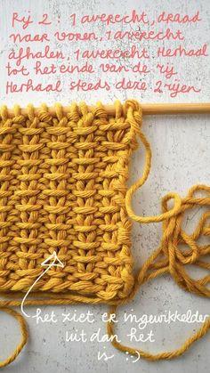 Laatst las ik een artikel in the New York Times over breien en haken, fijn artik. Knitting Stiches, Crochet Stitches, Baby Knitting, New York Times, Stitch Patterns, Knitting Patterns, Crochet Patterns, Crochet Wool, Crochet Baby