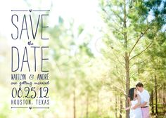Save the Date with text overlay - could mix this with date on shoes photo?