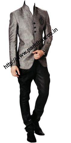 INMONARCH Mens Royal Linen Gray Jodhpuri Suit Royal look mens linen Jodhpuri suit made in gray linen fabric. Indian Wedding Clothes For Men, Indian Wedding Outfits, Indian Outfits, Indian Clothes, Indian Men Fashion, Mens Fashion Suits, Mens Suits, Men's Fashion, Prince Suit