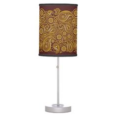 Large Paisleys in Gold - Standing Lamp 5