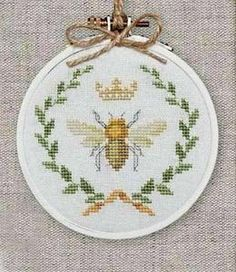 ≗ The Bee's Reverie ≗  Queen bee cross stitch