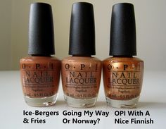 PREVIEW: OPI Nordic collection - fall/winter 2014  (from Nailtastic blog)