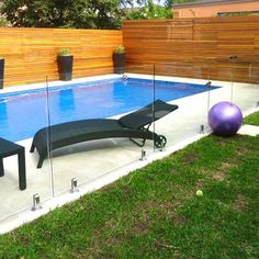 Glass and Wood Pool Fencing