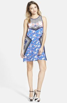 MINKPINK 'Blue Bay Fire' Shift Dress available at #Nordstrom