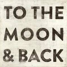 """Hand constructed and printed on vintage recycled wood, Sugarboo Designs """"To The Moon And Back"""" Art Print is a unique blend of vintage and modern with a touch of whimsy. Made in USA Vintage Art Prints, Vintage Wall Art, Vintage Walls, Vintage Canvas, Vintage Signs, Vintage Moon, Vintage Diy, Vintage Posters, Vintage Photos"""