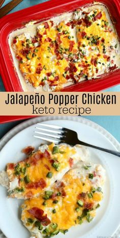 Keto Jalapeño Popper Chicken Recipe is packed with so much amazing flavor. Lots… Keto Jalapeño Popper Chicken Recipe is packed with so much amazing flavor. Lots of cheese, bacon and more make this Keto Jalapeño Popper Chicken oh so good! Keto Meal Plan, Diet Meal Plans, Healthy Diet Recipes, Cooking Recipes, Keto Snacks, Cooking Tips, Ketogenic Recipes, Keto Foods, Cooking Classes