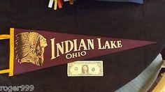 Indian Lake Ohio Amusement Park | ... INDIAN LAKE OHIO PENNANT Russells Point Sandy Beach Amusement Park