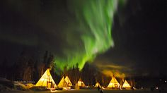 Still of the Aurora Borealis filmed by Kwon O Chul in Yellowknife , Northwest Territories, Canada.