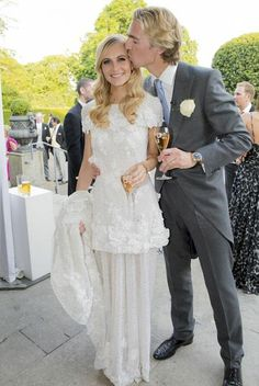 Sponsored party: Poppy Delevingne appears to have had her wedding booze sponsored after posting on Twitter that a particular champagne was '...