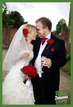 red rose wedding theme, red rose couple