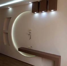 Tv Unit Furniture Design, Tv Unit Interior Design, Interior Ceiling Design, House Ceiling Design, Ceiling Design Living Room, Bedroom False Ceiling Design, Room Door Design, Home Room Design, Wall Unit Designs