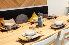 Featuring our squab cushions and Danbo wooden boards. Build House, Building A House, The Block Nz, Kitchen Dining, Dining Room, Wooden Boards, Danbo, Villas, Living Spaces