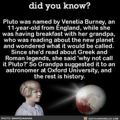 "Resume: ""Named Pluto""  #Pluto #planet #solarsystem #nasa  Share the knowledge! Tag your friends in the comments.  Want more Did You Know(s)?  Buy our book on Amazon: [LINK IN BIO]  Download our App: http://apple.co/2i9iX0u  Get daily text message alerts: http://Fact-Snacks.com  Free email newsletter: http://ift.tt/2pueJnR  We post different content across our channels. Follow us so you don't miss out! http://ift.tt/1FVnDRT http://twitter.com/didyouknowfacts  #DYN #FACTS #TRIVIA #TIL…"