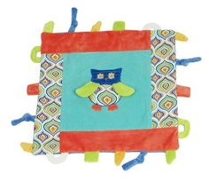 Blue Owl Multifunction Blankie Teether Loops Knots Maison Chic  Price : $22.99 http://www.reallylovethat.com/Multifunction-Blankie-Teether-Maison-Chic/dp/B00BFHDM48