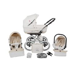 Artikelbild 2483 - Classic One Plus 3 in 1 pram + car seat 01 Eco White