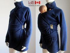 Maternity Coat. Baby Sling Coat. Wrap Coat. Carry by LoVDdesign, $150.00
