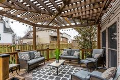 Use these awesome Covered Deck ideas to build your own. Small or large, find a deck design for every style, modern or traditional, covered for rain & shade. Patio Roof, Pergola Patio, Pergola Plans, Pergola Ideas, Patio Ideas, White Pergola, Pergola Swing, Pergola Kits, Porch Ideas