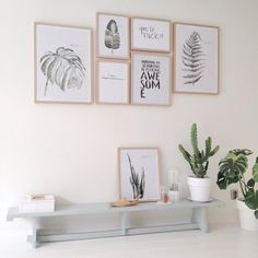 Canvas Wall Art Green Leaf Simple Life Painting x x 3 Pieces Framed Canvas Pictures Watercolor Prints Contemporary Canvas Artwork Ready to Hang for Home Decoration Kitchen Office Wall Decor Interior Styling, Interior Decorating, Interior Design, Scandi Living, Home Decor Inspiration, My Room, Frames On Wall, Decoration, Living Room Decor