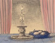 René Magritte - La veillée, 1961  : ⚪️More At FOSTERGINGER @ Pinterest