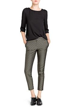 Pantalón Gris De Oscuro Verde Pantalones Lino Promod Mujer ULVMGqpzS