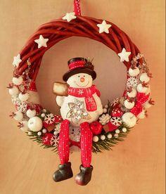 Karácsonyi hóemberes ajtódísz