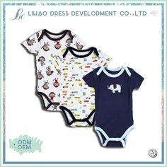Newborn Minimal Flamingo Cartoon Short Sleeve Climbing Clothes Pajamas Sleepwear Suit 6-24 Months