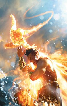 Human Torch vs Namor by Gerald Parel
