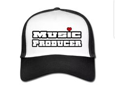 €17,99 order NOW!Music Producer White/Black Trucker Cap. Match it wit a Music Producer hoody or T-shirt.