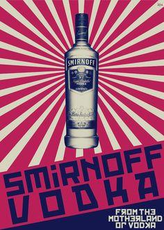 Smirnoff Vodka - Poster by Pedro Fernandes, via Behance
