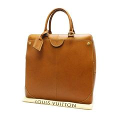 Louis Vuitton Negev PM Nomade Briefcases Brown Leather M80317