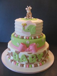 Giraffe Baby Shower | Giraffe Baby Shower Cake - The House of Cakes by edith